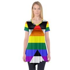Straight Ally Flag Short Sleeve Tunic