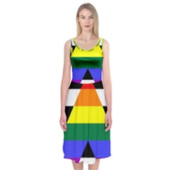 Straight Ally Flag Midi Sleeveless Dress