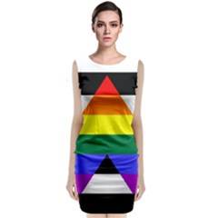 Straight Ally Flag Classic Sleeveless Midi Dress