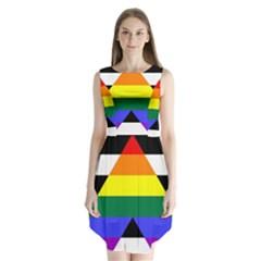 Straight Ally Flag Sleeveless Chiffon Dress