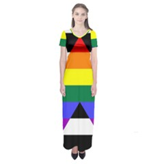 Straight Ally Flag Short Sleeve Maxi Dress