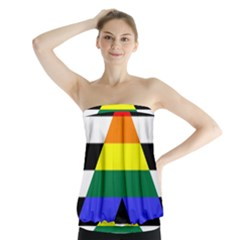 Straight Ally Flag Strapless Top