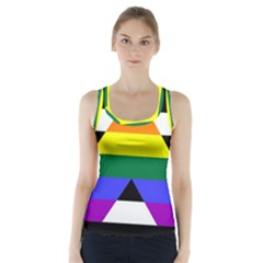 Straight Ally Flag Racer Back Sports Top