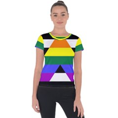 Straight Ally Flag Short Sleeve Sports Top