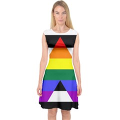 Straight Ally Flag Capsleeve Midi Dress