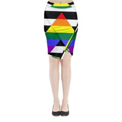 Straight Ally Flag Midi Wrap Pencil Skirt