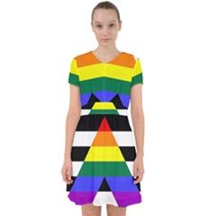 Straight Ally Flag Adorable In Chiffon Dress