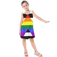 Straight Ally Flag Kids  Sleeveless Dress