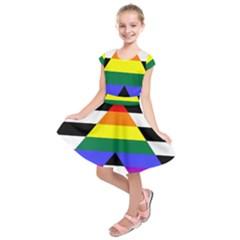 Straight Ally Flag Kids  Short Sleeve Dress