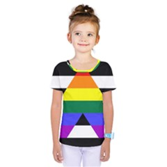 Straight Ally Flag Kids  One Piece Tee