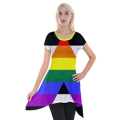 Straight Ally Flag Short Sleeve Side Drop Tunic
