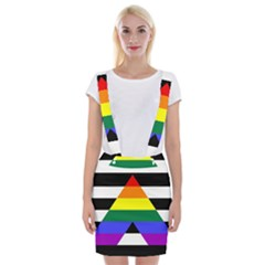 Straight Ally Flag Braces Suspender Skirt