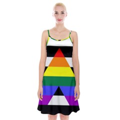 Straight Ally Flag Spaghetti Strap Velvet Dress