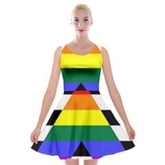 Straight Ally Flag Velvet Skater Dress