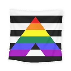 Straight Ally Flag Square Tapestry (small)