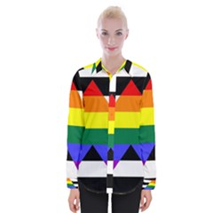Straight Ally Flag Womens Long Sleeve Shirt