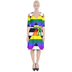 Straight Ally Flag Wrap Up Cocktail Dress