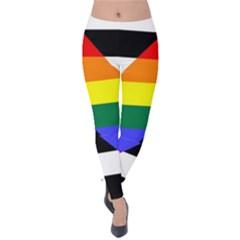 Straight Ally Flag Velvet Leggings