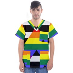 Straight Ally Flag Men s V Neck Scrub Top