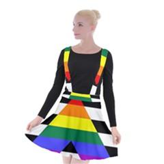 Straight Ally Flag Suspender Skater Skirt