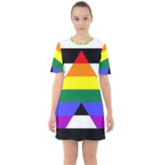 Straight Ally Flag Sixties Short Sleeve Mini Dress