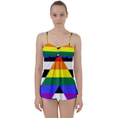 Straight Ally Flag Babydoll Tankini Set