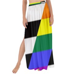 Straight Ally Flag Maxi Chiffon Tie Up Sarong