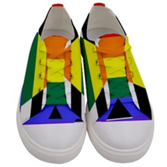 Straight Ally Flag Women s Low Top Canvas Sneakers