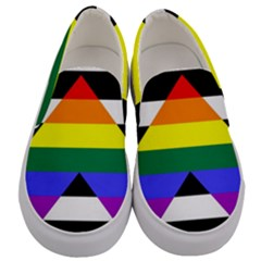 Straight Ally Flag Men s Canvas Slip Ons