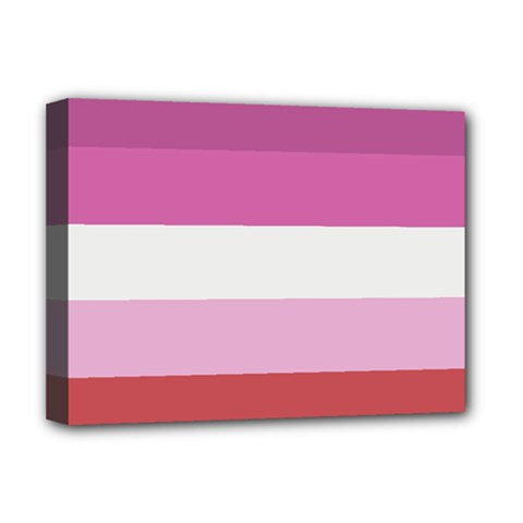 Lesbian Pride Flag Deluxe Canvas 16  X 12
