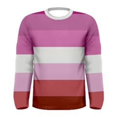 Lesbian Pride Flag Men s Long Sleeve Tee
