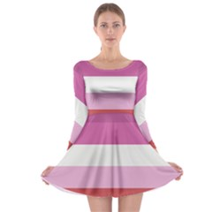 Lesbian Pride Flag Long Sleeve Skater Dress