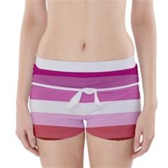 Lesbian Pride Flag Boyleg Bikini Wrap Bottoms
