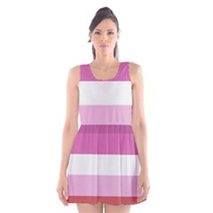 Lesbian Pride Flag Scoop Neck Skater Dress
