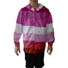 Lesbian Pride Flag Hooded Wind Breaker (kids)