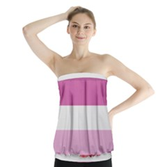 Lesbian Pride Flag Strapless Top