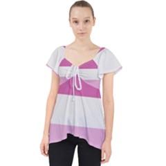 Lesbian Pride Flag Lace Front Dolly Top