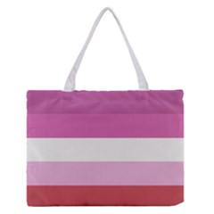Lesbian Pride Flag Zipper Medium Tote Bag