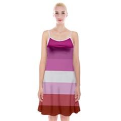 Lesbian Pride Flag Spaghetti Strap Velvet Dress
