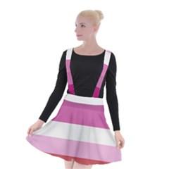 Lesbian Pride Flag Suspender Skater Skirt