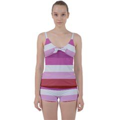 Lesbian Pride Flag Tie Front Two Piece Tankini