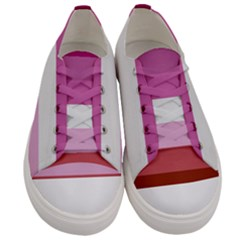 Lesbian Pride Flag Men s Low Top Canvas Sneakers