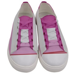 Lesbian Pride Flag Women s Low Top Canvas Sneakers