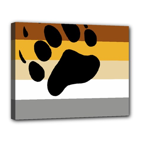 Bear Pride Flag Canvas 14  X 11