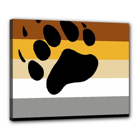 Bear Pride Flag Canvas 20  X 16