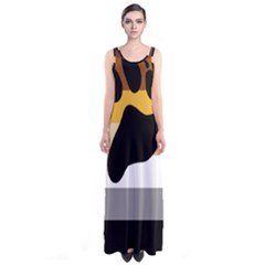 Bear Pride Flag Sleeveless Maxi Dress