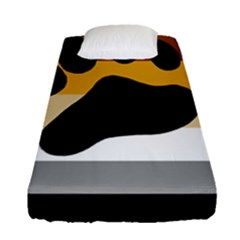 Bear Pride Flag Fitted Sheet (single Size)