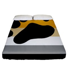 Bear Pride Flag Fitted Sheet (queen Size)