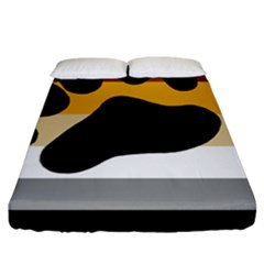 Bear Pride Flag Fitted Sheet (king Size)