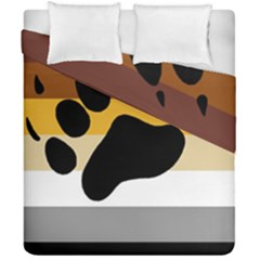 Bear Pride Flag Duvet Cover Double Side (california King Size)